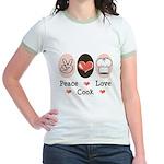 Peace Love Cook Chef Jr. Ringer T-Shirt