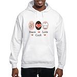 Peace Love Cook Chef Hooded Sweatshirt