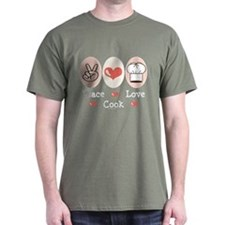 Peace Love Cook Chef T-Shirt