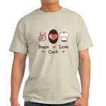 Peace Love Cook Chef Light T-Shirt