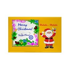 Santa Claus Merry Christmas Hoho Rectangle Magnet