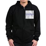 Daytona Beach Sailboat - Zip Hoodie (dark)