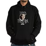 Hebrew Barack Obama Hoodie (dark)