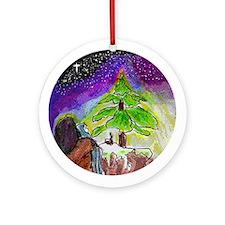 Ornamento del árbol de Navidad(Round)