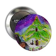 "Mary and Joseph tree2.25"" Button (10 pack)"