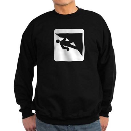 Climbing Guy Icon Sweatshirt (dark)