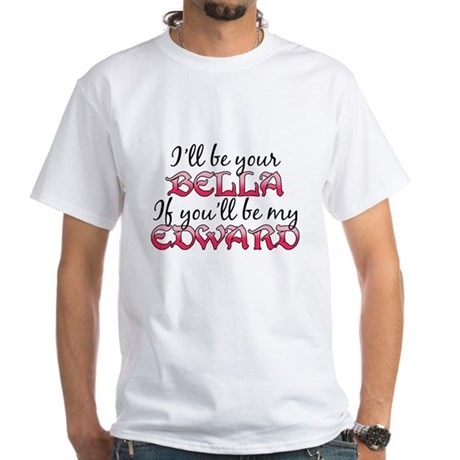 Be My Edward Twilight White T-Shirt