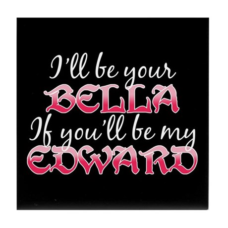 Be My Edward Twilight Tile Coaster
