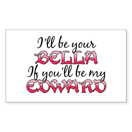 Be My Edward Twilight Rectangle Sticker