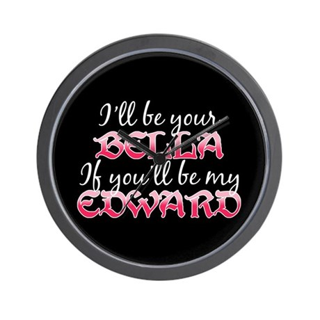 Be My Edward Twilight Wall Clock