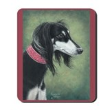Saluki (Black and Silver) Mousepad