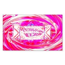 Torah Rocks (Pink) Rectangle Decal