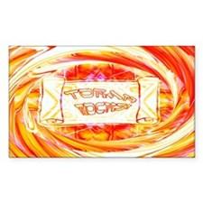 Torah Rocks (Orange) Rectangle Decal