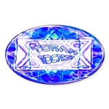 Torah Rocks (Metallic Blue) Oval Decal