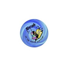 Torah is My Dance Partner Mini Button (10 pack)