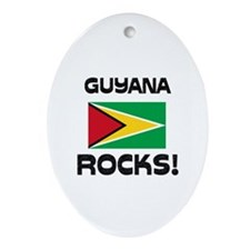 Guyana Rocks! Oval Ornament