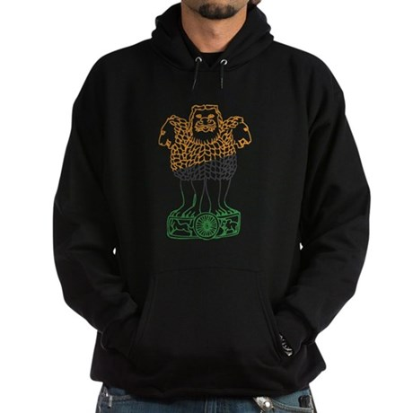 Indian National Emblem Hoodie (dark)