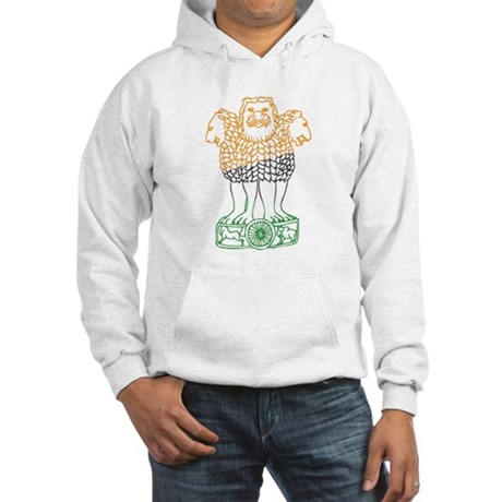 Indian National Emblem Hooded Sweatshirt