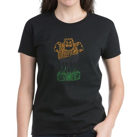 Indian National Emblem Women's Dark T-Shirt