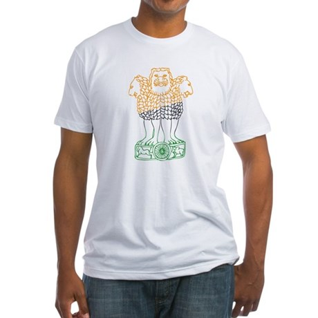 Indian National Emblem Fitted T-Shirt
