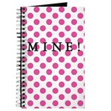 MINE! Pink Dotted Journal