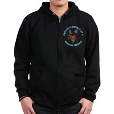 Proudly Owned Min Pin Zip Hoodie