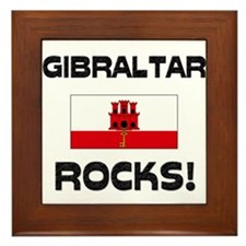 Gibraltar Rocks! Framed Tile