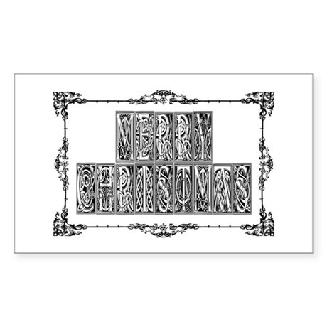 Merry Christmas Rectangle Sticker