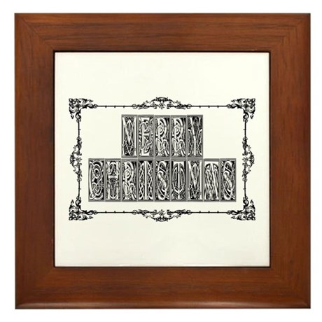 Merry Christmas Framed Tile
