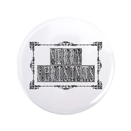"Merry Christmas 3.5"" Button (100 pack)"