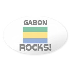 Gabon Rocks! Oval Decal