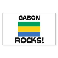 Gabon Rocks! Rectangle Decal