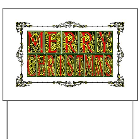 Merry Christmas Yard Sign
