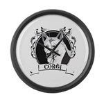 Corgi Large Wall Clock