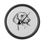 Dachsund Large Wall Clock