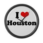 I love Houston Large Wall Clock