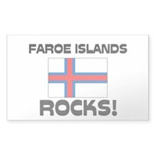 Faroe Islands Rocks! Rectangle Decal
