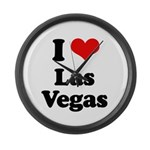 I love Las Vegas Large Wall Clock