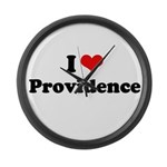 I love Providence Large Wall Clock