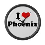I love Phoenix Large Wall Clock