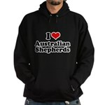I Love Australian Shepherds Hoodie (dark)