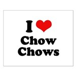 I Love Chow Chows Small Poster