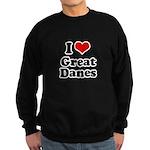 I Love Great Danes Sweatshirt (dark)