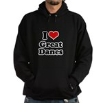 I Love Great Danes Hoodie (dark)
