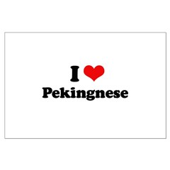 I Love Pekingese Posters