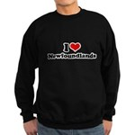 I Love Newfoundlands Sweatshirt (dark)