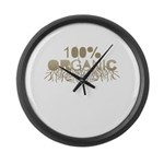 100% Organic Large Wall Clock