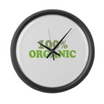 100 percent organic Large Wall Clock