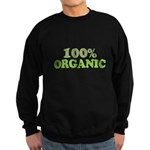 100 percent organic Sweatshirt (dark)