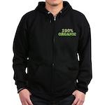 100 percent organic Zip Hoodie (dark)